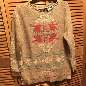 Lauren Ralph Lauren Tan Knit Sweater